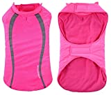 Geyecete Cozy Waterproof Windproof Dog Vest Winter Coat Warm Dog Apparel Cold Weather Dog Jacket for Small Medium Large Dogs -Pink-M