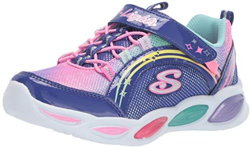 Skechers 20267N - Gmmer Kicks-Glitter Zapatillas para niña, Multicolor (Navy/Lavander), 26 EU (9 UK)