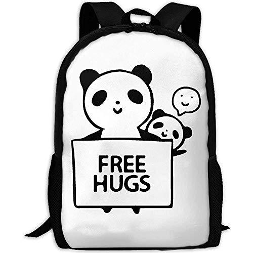 Student Tas, Sport Outdoor Panda Gratis Knuffels Volwassen Reizen Rugzak School Casual Daypack Oxford Outdoor Laptop Bag College Computer Schoudertassen