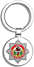 PRS Vinyl Fife Fire Rescue Service Crest Shaped (Badge UK Firefighter) Double Sided Stainless Steel Keychain Key Ring Chain Holder Car/Key Finder