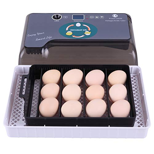 12 Egg Incubator,Incubators for Hatching Eggs with Fully Automatic,for Hatching Chickens,Ducks,Quail,Turkeys,Parrots,Love Birds,Macaws & Other Domestic & Exotic Bird Species Etc