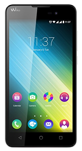 Wiko Lenny 2 Smartphone (12,4 cm (5 Zoll) IPS-Display, 1,3 GHz Quad-Core Prozessor, 8GB interner Speicher, 1GB RAM, Android 5.1 Lollipop) weiß
