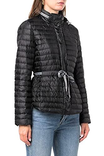 Michael Kors Cazadora Acolchada para Mujer con Cinturón y Logo Modelo MU12025G1M Color Negro. (L)