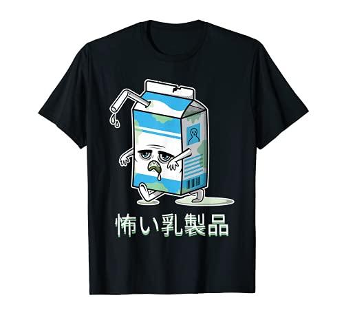 Latte spaventoso latteria Kawaii Zombie cibo Zombie latte Maglietta