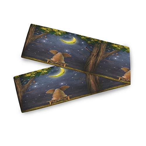 TropicalLife F17 - Camino de mesa rectangular con diseño de elefante étnico y mandala, 33 x 228 cm, poliéster, decoración para bodas, cocina, fiestas, banquetes, comedores, mesas de café