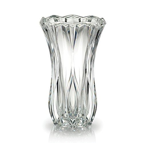 Celebrations by Mikasa Blossom Crystal Vase, 12-Inch