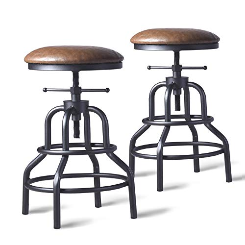 Diwhy Industrial Vintage Bar Stool