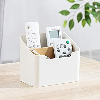 Remote Control Holder Desk Table TV Remote Control Office Supplies Cosmetic Holder Caddy Organizer Boxes Tray for Vanity Office Bathroom Countertop Home