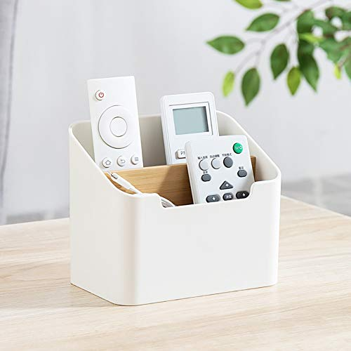 Remote Control Holder, Desk Table TV Remote Control Office Supplies Cosmetic Holder Caddy Organizer Boxes Tray for Vanity Office Bathroom Countertop Home