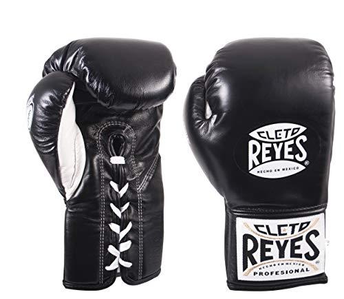 Cleto Reyes Offizielle Boxhandschuhe – 236 g, Schwarz (Safetec), 8-ounce