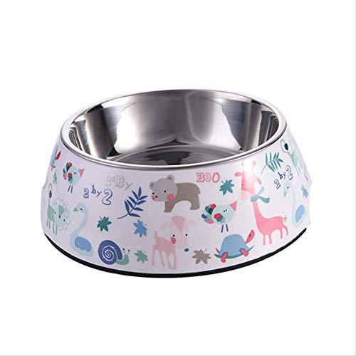 nobrand 1 Pc huisdier voeding kom anti-slip roestvrij staal hond feeders meerdere maten kat voedsel water Bo water voedsel schotel huisdier opslag Mwl