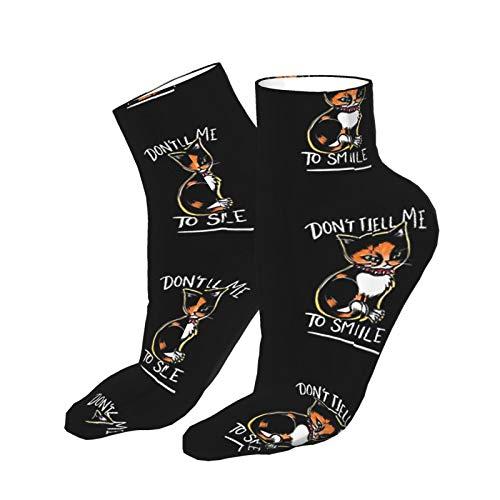 Don't Tell Me To Smile Adult Socks, Low-Cut Socks, Casual Socks, Breathable Sports Socks, Unisex 30cm