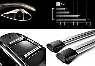 HippoBar Aerodynamische & Abschließbare Alu Dachträger Für Audi A4 B6 Avant 2000–2006 Silber Eloxiert