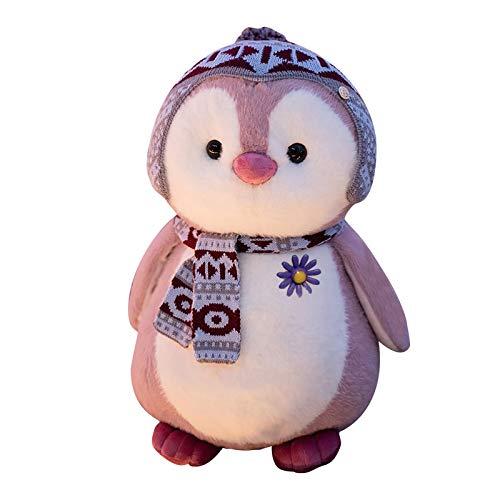 DQANIU lindo peluche de pingüino de pie, almohada de peluche suave y cómoda|Juguetes de peluche de animales|Peluche de Peluche Seguro y no tóxico|Adecuado para ropa de cama de bebé|20cm