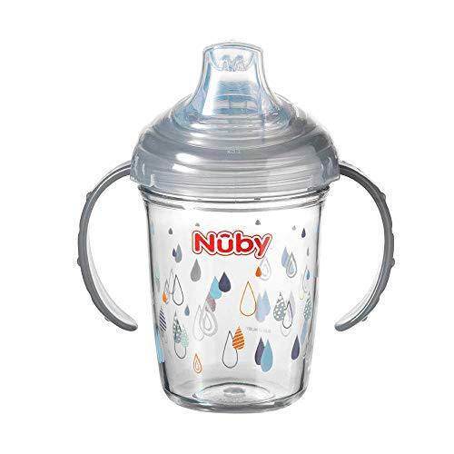 Nuby Tritan Grip n Sip Sippy Tasse en forme de gouttes de pluie Gris