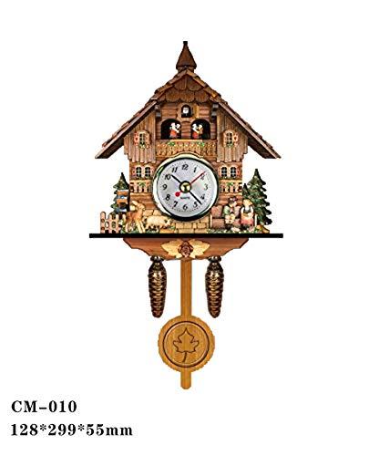 Reloj De Cuco Personalizado Reloj De Pared De Cuco Creativo De Madera Sala De Estar Europea Reloj De Pared De La Vendimia 010