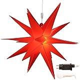 Weihnachtsstern Ø 58 cm rot, warmweiß, LED Stern für die Weihnachtsbeleuchtung innen und außen