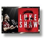 Marco de acción 3D Luke Shaw con firma impresa