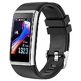 YONMIG Fitness Armband, Fitness Tracker mit Pulsmesser, Blutdruckmessung 1.14 Zoll Farbbildschirm IP67 Wasserdicht Smartwatch Schrittzähler Uhr Smart Watch für Damen, Herren, Kinder Android iOS