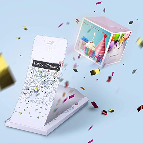 «BOOM» - exploding greeting birthday confetti card surprise box prank her him friend woman man mom dad sister brother husband wife