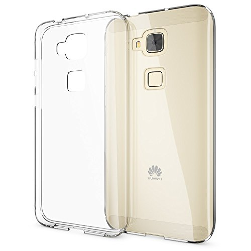 NALIA Handyhülle kompatibel mit Huawei G8 GX8, Soft Slim TPU Silikon Case Cover Hülle Crystal Clear Schutzhülle Dünn Durchsichtig, Etui Handy-Tasche Back-Cover Smart-Phone Schutz Bumper - Transparent