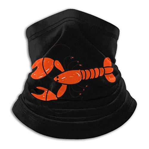 XXWKer Microfibre Chapeaux Tube Masque Visage Tour de Cou Cagoule, A Lobster Men's Women's Face Neck Warmer Bandana For Motorcycling