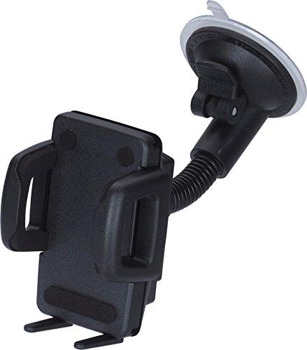hr-imotion Universal Schwanenhals Kompakt Halterungslösung für alle Smartphones zwischen 59mm & 89mm Breite [5 Jahre Garantie   Made in Germany   vibrationsfrei] - 22010401 - 2