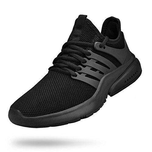 Biacolum Mens Running Shoes Non Slip Tennis Gym Sneakers Lightweight Kitchen Restaurant All Black Work Slip Resistant Shoes Black 12