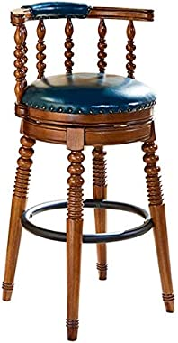Dining Chair Minimalist Wood Home Retro High Chair(61cm) Dining Chair (Color : 61cm)