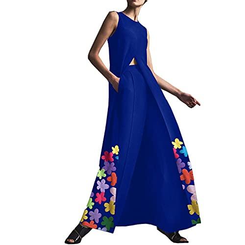SLYZ Vestido Largo De Una Pieza con Estampado De Temperamento De Verano para Mujeres Europeas Y Americanas