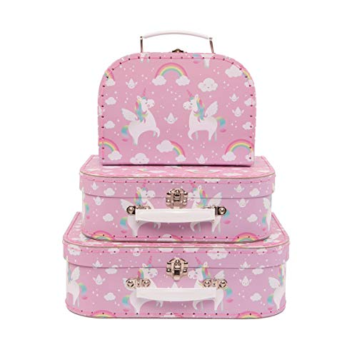 Sass & Belle Rainbow Unicorn (Set of 3) Geometrics Suitcases