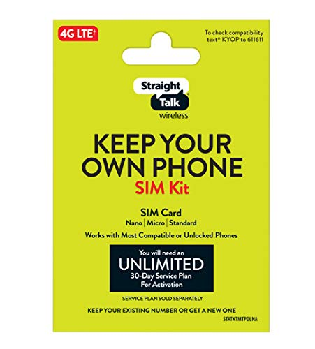 Straight Talk Bring Your Own Phone Universal SIM Card Pack - Verizon,...