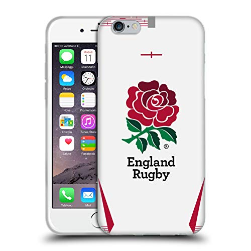 Head Case Designs Ufficiale England Rugby Union in Casa 2019/20 Kit Cover in Morbido Gel Compatibile con Apple iPhone 6 / iPhone 6s