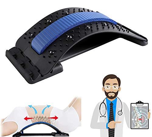 Alargador de espalda para masaje lumbar y lumbar, masajeador de espalda inferior y superior