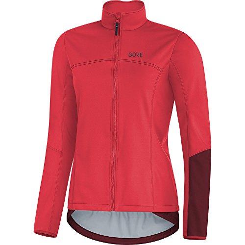 GORE Wear Damen Winddichte Fahrradjacke, C5 Women GORE WINDSTOPPER Thermo Jacket, 34, Pink/Bordeaux, 100366