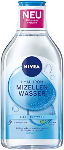 NIVEA Hydra Skin Effect Mizellenwasser (400 ml), pflegendes Hyaluron Mizellenwasser für eine gründliche Gesichtsreinigung, Make-Up Entfernermit purem Hyaluron [HA]