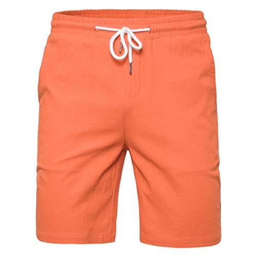 Sport Strand-Shorts für Männer, Mode Herren Sommer Feste Badehose Elastische Strand Surfen Laufen Kurze Hosen Amoyl