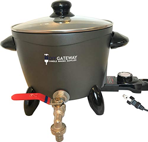 Wax Melter for Candle Making, Large Electric 10 LB Wax Melting Pot Machine with Quick-Pour Spout & Free Ebook