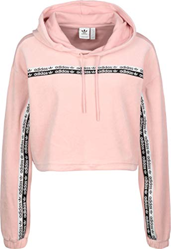 adidas Velours Cropped W Hoodie pink