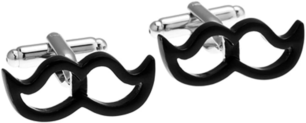 Like Papa Moustache Cut Out Cufflinks Gunmetal Upper Lip Power Cuff Links Beard Whiskers Mustachio