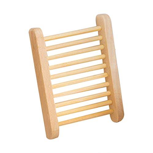 Praktische Natürliche Holz Seifenschalen Trapez Seifenschalenhalter Wc Bad-accessoires Seifenkasten Haushaltswaren