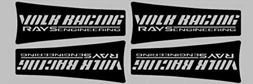 Zizu store - 4 x New Car Wheel Rim Decoration Sticker Series Car Accessories Decal for Volk Racing Rays Engineering