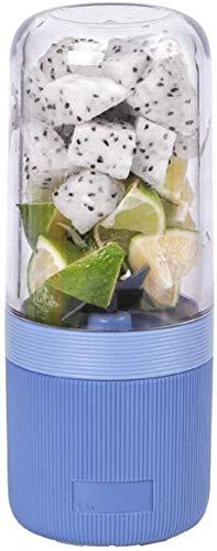 ZWWZ Máquinas de exprimidor, Exprimidores Cocina Mini Rock Jugo Copa eléctrica 400ml Fruta portátil Limón Mezcla Taza Vegetales eléctricos 195x79x79mm (Color: Blanco) HAIKE (Color : Blue)