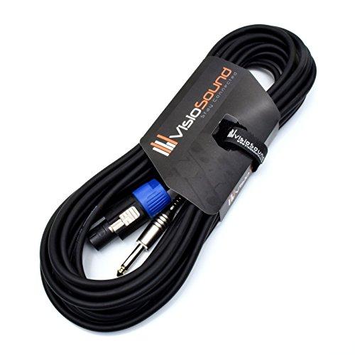 PA Lautsprecherkabel 6,3mm Klinke auf Speakon Kompatibel mit Rean/Neutrik Stecker/Professionelles Boxenkabel 10m