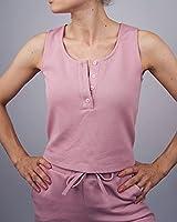 The Drop por @olesjaswelt - Top de corte cropped y tirantes para mujer, XXS, color rosa empolvado