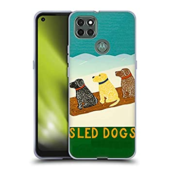 Head Case Designs Officially Licensed Stephen Huneck Sled Snow Dog Soft Gel Case Compatible with Motorola Moto G9 Power