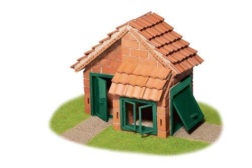 Teifoc 4210 Steinbaukästen-TEI 4210-Haus mit Dachpfanne, Multi Color, Häuser mit Fliesen