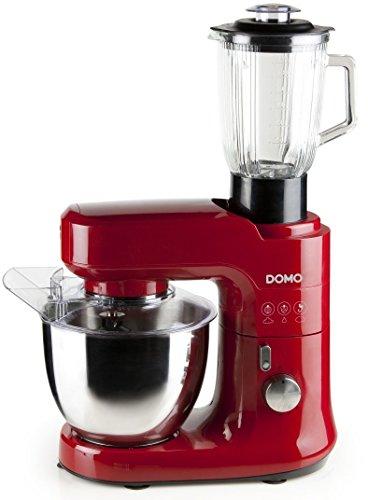 Domo do9145kr 700 W 4.5L Rouge, Acier Inoxydable – Robot de cuisine (4,5 l, rouge, acier inoxydable, rotatif, acier inoxydable, acier inoxydable, pP, Stainless Steel)