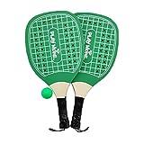 Ducomi Fun - Juego de raquetas de playa con bolas – Raquetas de madera maciza bolas de goma – Juegos para playa, tenis, ping pong para adultos y niños