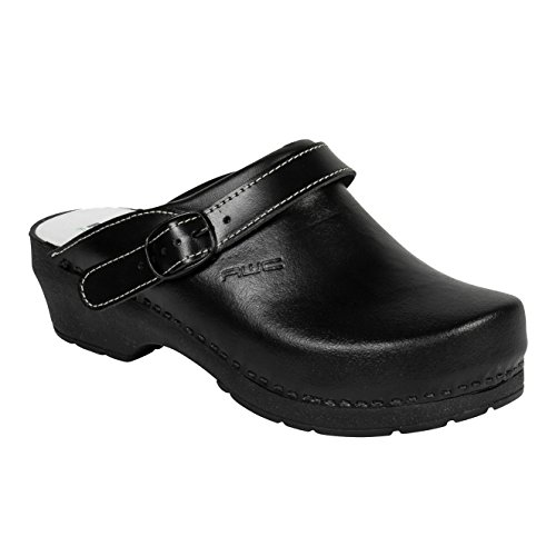 AWC-Footwear Unisex-Erwachsene Classic Line Arbeitsclogs, Schwarz (Schwarz), 39 EU